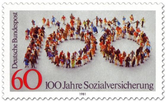 Briefmarke: Menschen - 100 Jahre Sozialversicherung
