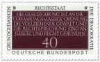 Briefmarke: Rechtsstaat (Grundgedanken der Demokratie)