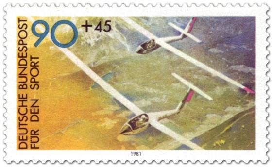 Briefmarke: Segelflieger (für den Sport)