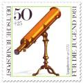 Briefmarke: Spiegelfernrohr um 1770