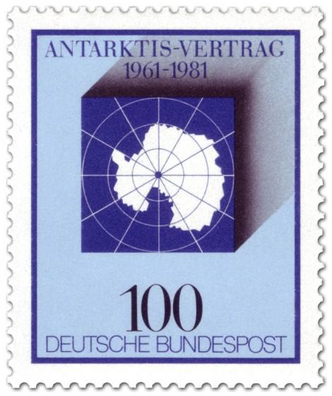 Briefmarke: Südpol - 20 Jahre Antarktisvertrag