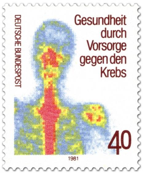 Briefmarke: Szintigramm (Krebs-Vorsorge)