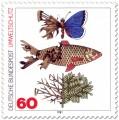 Briefmarke: Umweltschutz (zerstörter Schmetterling, Fisch, Baum)