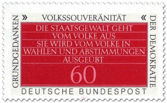 Briefmarke: Volkssouveränität (Grundgedanken der Demokratie)