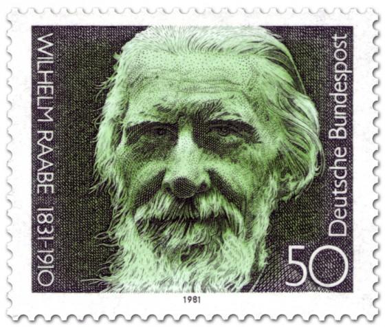 Briefmarke: Wilhelm Raabe (Schriftsteller)