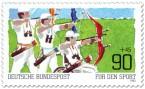 Briefmarke: Bogenschießen - Für den Sport
