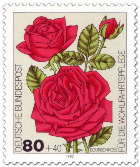 Briefmarke: Bourbon-Rose
