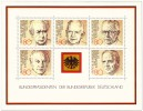 Briefmarkenblock Bundespräsidenten