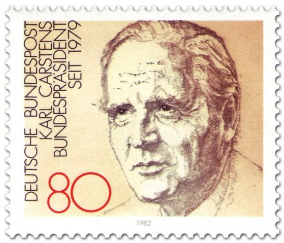 Briefmarke: Bundespräsident Karl Carstens 82