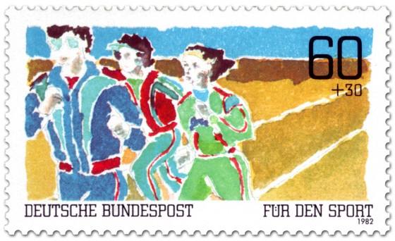 Briefmarke: Dauerlauf - Für den Sport