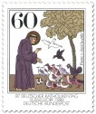 Briefmarke: Franz von Assisi (Mönch) - Vogelpredigt