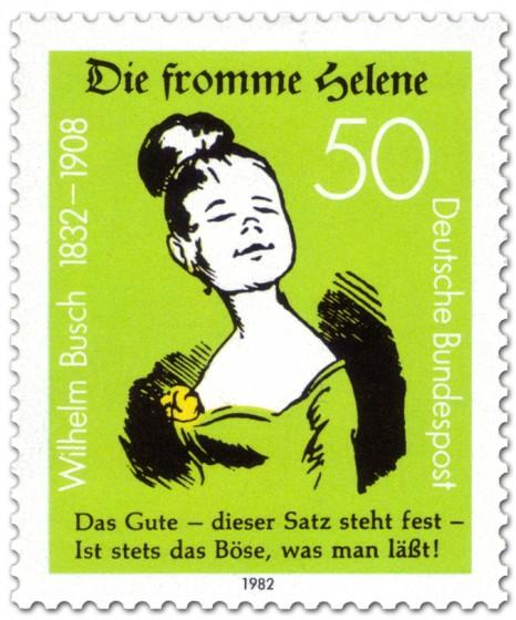 Briefmarke: Die fromme Helene von Wilhelm Busch