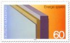 Briefmarke: Isolierte Wand zum Energie sparen