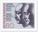 Briefmarke: James Franck und Max Born (Physiker)