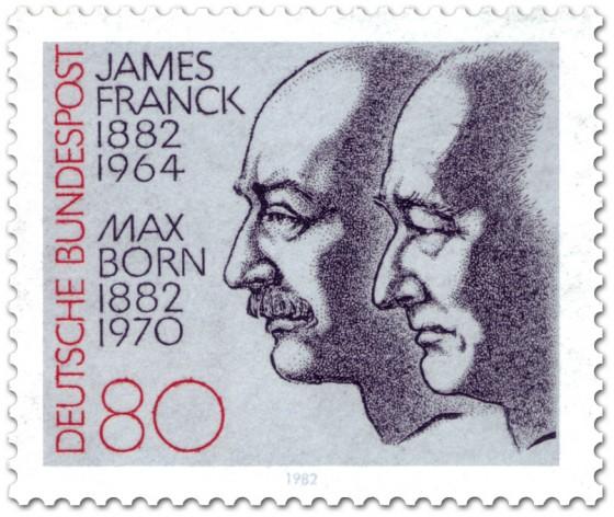 Briefmarke: James Franck und Max Born (Physiker)