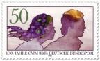 Briefmarke: Junges Paar (Aquarell) CVJM