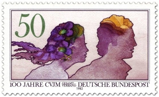 Briefmarke: Junges Paar (Aquarell) CVJM