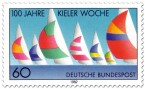 Briefmarke: 100 Jahre Kieler Woche