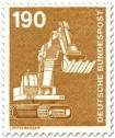 Briefmarke: Löffelbagger