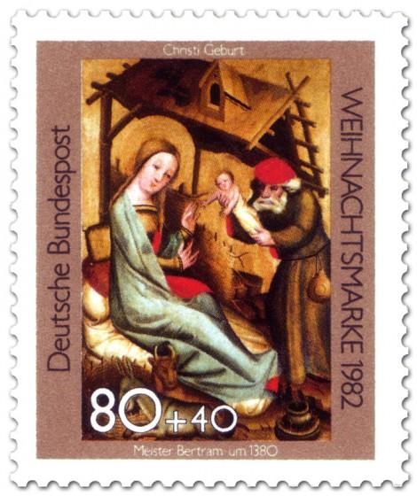 Briefmarke: Meister Bertram Christi Geburt (Weihnachtsmarke 1982)
