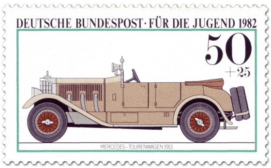 Briefmarke: Mercedes Tourenwagen