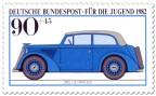 Briefmarke: Opel Olympia von 1937