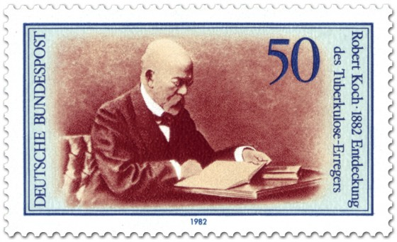 Robert Koch stamp (West Germany 1982)