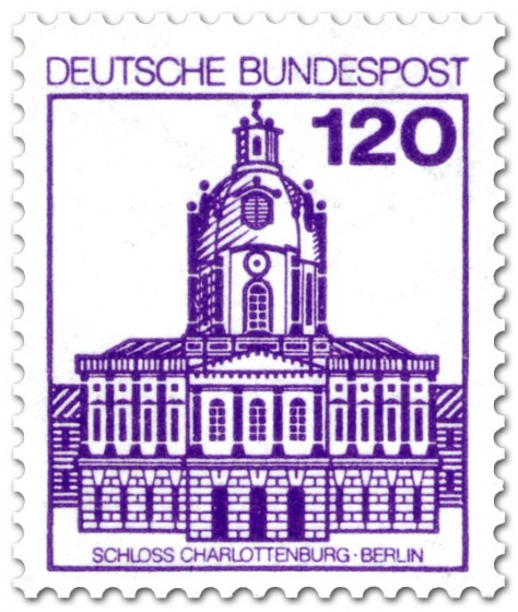 Briefmarke: Schloss Charlottenburg Berlin