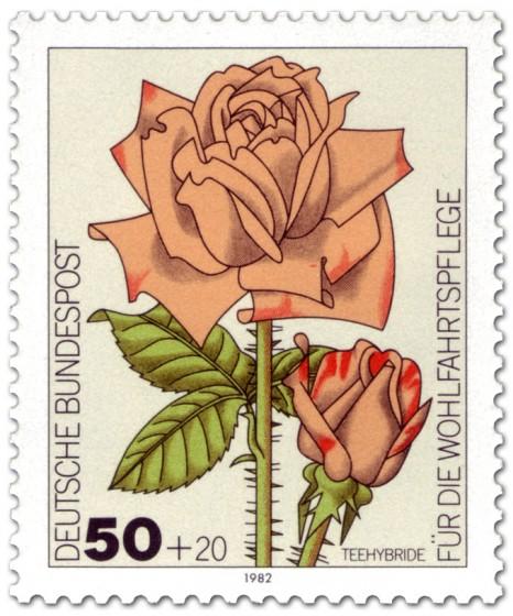 Briefmarke: Teehybride Gartenrose