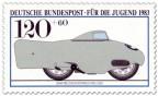 Briefmarke: Bmw Weltrekordmaschine 1936
