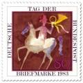 Briefmarke: Tag der Briefmarke: Postreiter-Aquarell