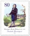 Briefmarke: Christoph Martin Wieland (Dichter, Schriftsteller)