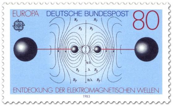 Briefmarke: Elektromagnetische Wellen, Schwingungen