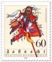 Briefmarke: Federahannes Kostüm zur Fastnacht