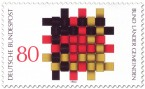 Briefmarke: Flechtwerk aus Schwarz Rot Gold