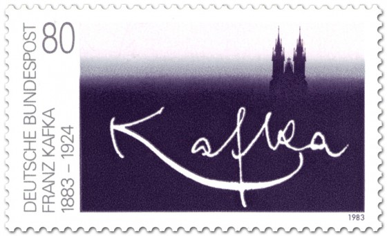 Franz Kafka stamp (Germany, 1983)
