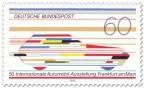 Briefmarke: Futuristisches Auto (IAA Frankfurt)