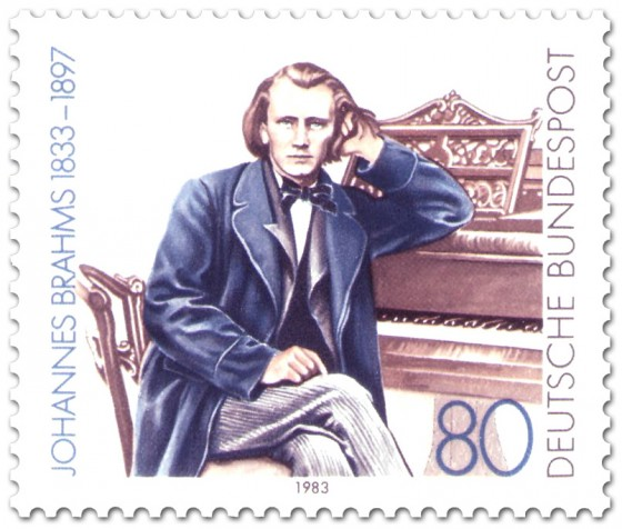 Briefmarke: Johannes Brahms (Komponist)