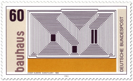 Briefmarke: Josef Albers: Sanctuary (1942)