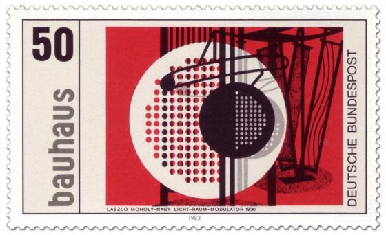Briefmarke: Licht Raum Modulator von Laszlo Moholy-Nagy