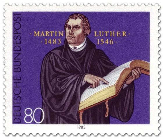Briefmarke: 500. Geburtstag von Martin Luther
