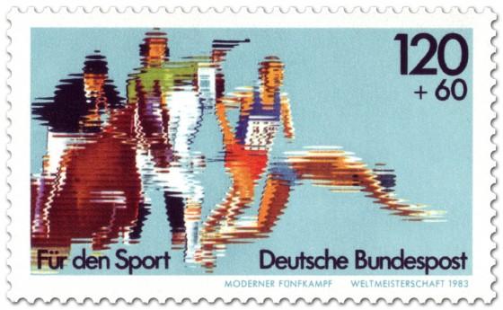 Briefmarke: Moderner Fünfkampf WM