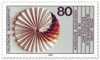 Briefmarke: Papierrosette mit Schwarz rot gold (Deutschland in der Uno)