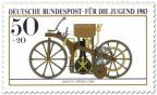 Briefmarke: Reitwagen Daimler Maybach