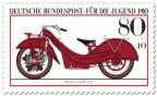 Briefmarke: Rotes Megola Sport Motorrad