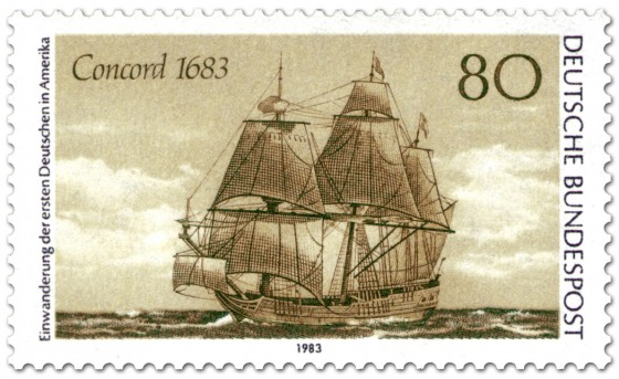 Briefmarke: Segelschiff Concorde