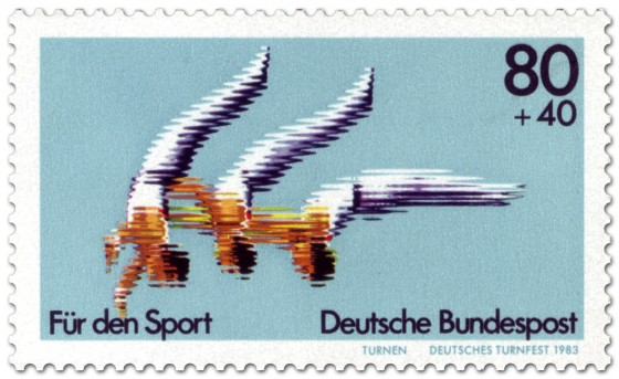 Briefmarke: Turnen (Turnfest 1983)