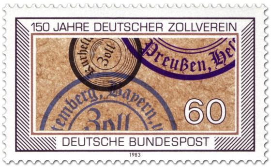 Briefmarke: Zollstempel - 150 Jahre Deutscher Zollverein
