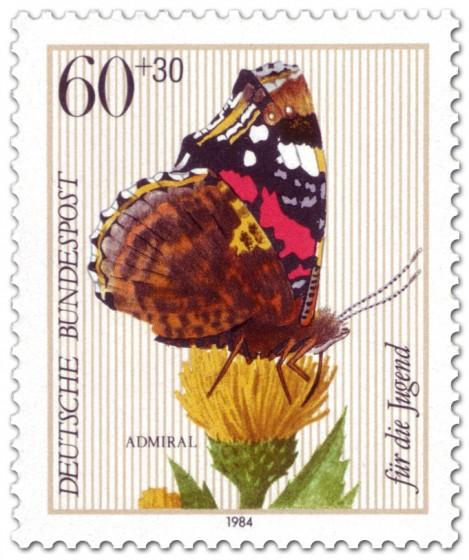 Briefmarke: Admiral Schmetterling