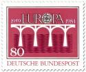 Brücke Europamarke (Rot)